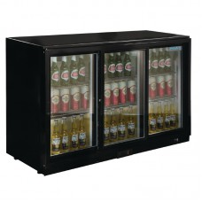 POLAR GL006: 330Ltr Sliding Door Back Bar Beer Cooler 900mm High with LED Lighting & 2 YEAR FULL WARRANTY