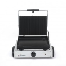 Sammic GL-6: Single Contact Grill - Ribbed Top Plate