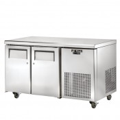 True TGU-2F: 2 Door Stainless Steel Gastronorm Counter Freezer - 297Ltr