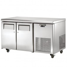 True TGU-2-HC: 2 Door Stainless Steel Refrigerated Gastronorm Counter - 297Ltr