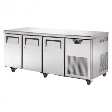 True TGU-3F: 3 Door Stainless Steel Gastronorm Counter Freezer - 456Ltr