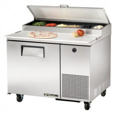 True TPP-44: 1 Door Stainless Steel Pizza Prep Table - 323Ltr