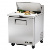 True TSSU-27-8: 1 Door Stainless Steel Refrigerated Gastronorm Saladette Counter - 184Ltr