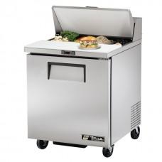 True TSSU-27-8: 1 Door Stainless Steel Refrigerated Gastronorm Saladette Counter - 184Ltr