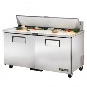 True TSSU-60-16: 2 Door Stainless Steel Refrigerated Gastronorm Saladette Counter - 439Ltr