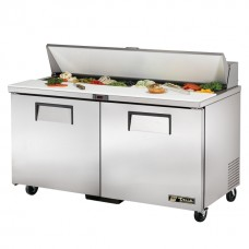 True TSSU-60-16: 2 Door Stainless Steel Refrigerated Gastronorm Saladette Counter - 439Ltr