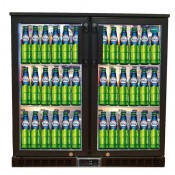 FL-BC2: High Performance 200 Litre Capacity Double Door Hinged Pub Beer Fridge  With LED Lighting - ECA Approved