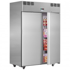 Interlevin AF14BT: 1400lt Double Door Gastronorm Freezer - Heavy Duty