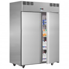 Interlevin AF14TN: 1400lt Double Door Gastronorm Refrigerator - Heavy Duty