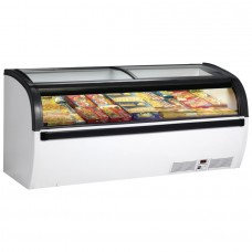 Arcaboa Vision 200S: 2m Sliding Curved Glass Lid Commercial Chest Freezer - 712Ltr