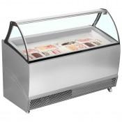 ISA Bermuda RV10: 1.34m Ventilated Soft Scoop Ice Cream Display - 10 Pans