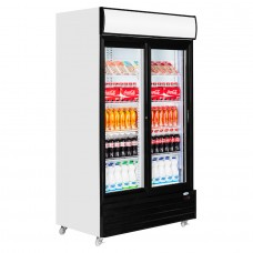 Interlevin CR1130S: Double Glass Door Display Fridge - 1000Ltr
