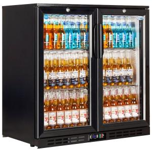 Interlevin EC20H: 210Ltr LOW-ENERGY Hinged Double Door Back Bar Cooler - ECA Approved