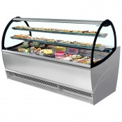 ISA Millennium PAS110: 1.1m Curved Glass Refrigerated Patisserie Display Counter