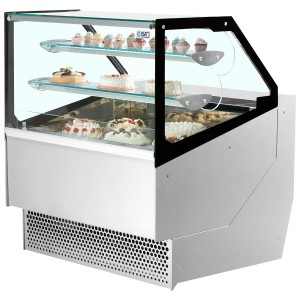 ISA Millennium STDPAS110: 1.10m Flat Glass Refrigerated Patisserie Display Counter