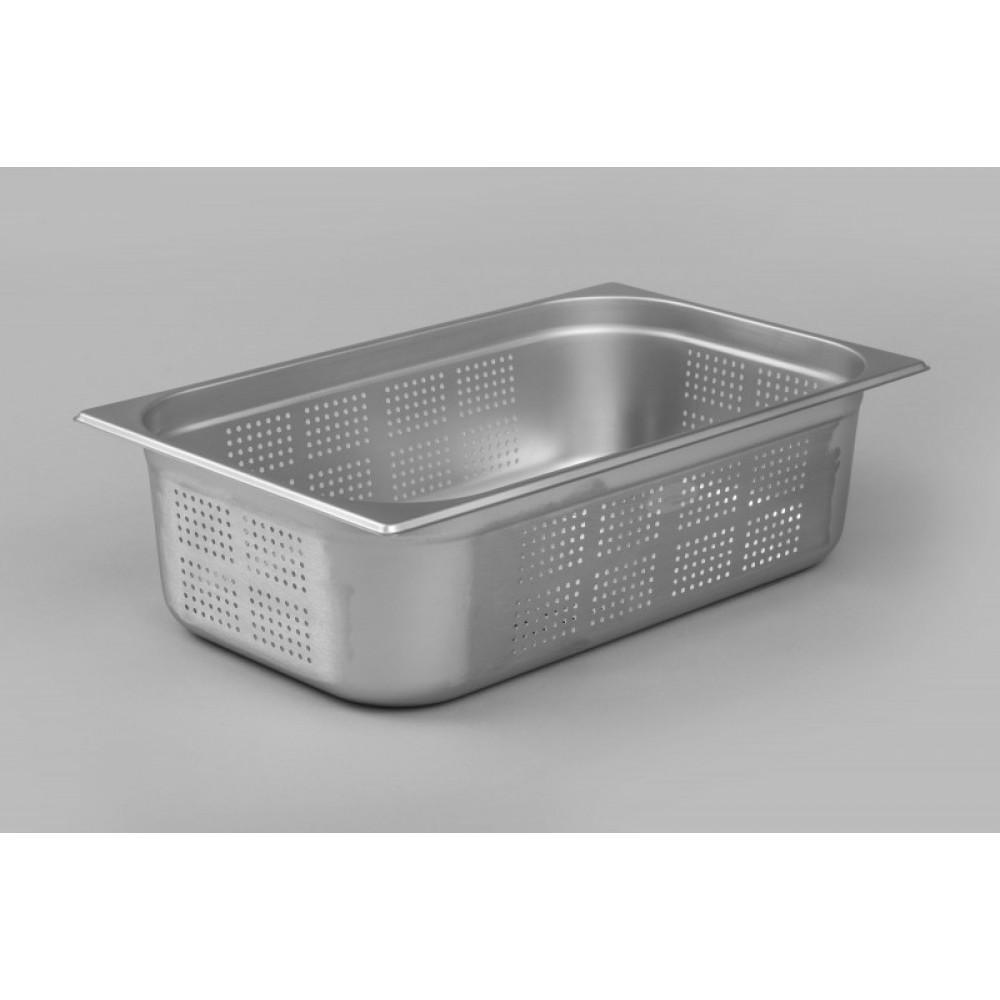 Industrial Kitchen Pans: Interlevin P11150: 1/1 Stainless Steel Perforated