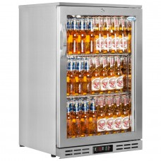 Interlevin PD10H SS: 142Ltr Hinged Single door Back Bar Cooler - Stainless Steel
