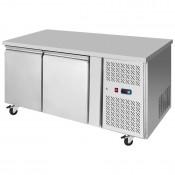 Interlevin PH20F: 2 Door Stainless Steel Gastronorm Counter Freezer - 271Ltr