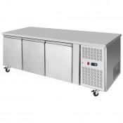 Interlevin PH30F: 3 Door Stainless Steel Gastronorm Counter Freezer - 420Ltr