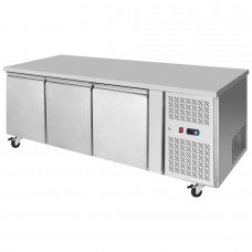 Interlevin PH30F: 3 Door Stainless Steel Gastronorm Counter Freezer - 420Ltr