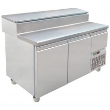 Mercatus S1-1470: 2 Door Refrigerated Gastronorm Pizza Preparation Counter - 220Ltr