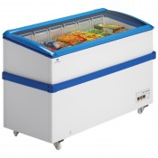 Arcaboa VCL550: 1.8m Hinged Curved Glass Lid Commercial Chest Freezer - 527ltr