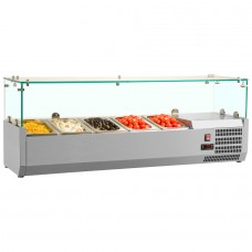 Interlevin VRX1200 330 5 X 1 4 GN Refrigerated Counter Top Servery Prep