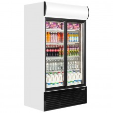 Caravell CBC803: Glass Door Display Fridge 858 ltr.