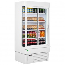 Framec Sunny 10SL+Doors: Multideck Display Refrigerator with Glass Doors - White