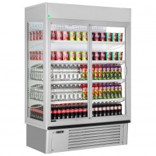 Framec Super Sunny 14: Multideck Display Refrigerator with Sliding Glass Doors & Lock - Grey