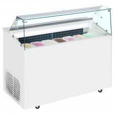 Framec TOP 6E: Ice Cream Scoop Display with Understorage - 6 Pans - Limited Stock!!