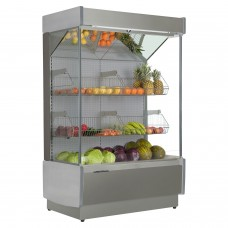 Frilixa Vizela II 100SS Fruit: 1m Wall Site Fruit & Veg Multideck - Stainless Steel
