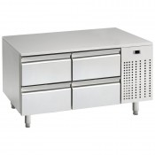 Mercatus U1-1200: 4 Drawer Chef Base Refrigerator - Only 650mm High