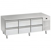 Mercatus U1-1600: 6 Drawer Chef Base Refrigerator - Only 650mm High
