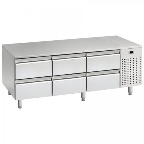 Mercatus U1-1600: 6 Drawer Chef Base Refrigerator - Only 650mm High