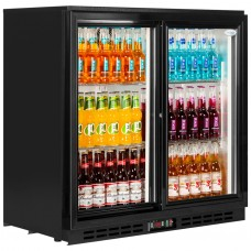 Interlevin PD20S: Sliding Double door Back Bar Cooler 210 ltr.
