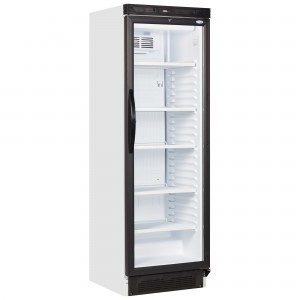 Interlevin SC381: Glass Door Fridge 372 ltr