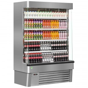 Framec Sunny 7SLX: Multideck Display Refrigerator - Stainless Steel