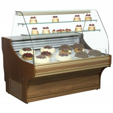 Frilixa Tamega Pastry 15 DW: 1.5m Serve Over Counter for Patisserie - Dark Wood - Special Offer Price - Limited Stock!!