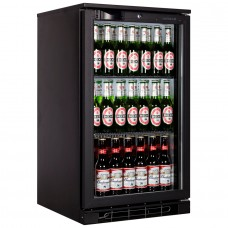 Tefcold BA05H: 100Ltr Single Door Back Bar Beer Cooler with LED Lighting - Black