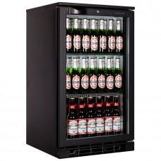 Tefcold BA05H: 100Ltr Single Door Back Bar Beer Cooler with LED Lighting - Black