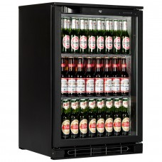 Tefcold BA10H: 124Ltr Single Door Back Bar Beer Cooler with LED Lighting - Black
