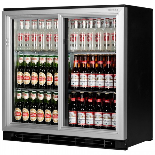Tefcold Ba20sal 196ltr Double Sliding Door Back Bar Beer