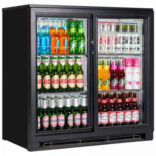 Tefcold Ba20s 196ltr Double Sliding Door Back Bar Beer