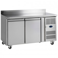 Tefcold CF7210: 2 Door Stainless Steel Gastronorm Counter Freezer - 282Ltr