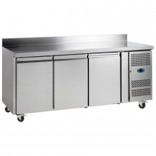 Tefcold CF7310: 3 Door Stainless Steel Gastronorm Counter Freezer - 417Ltr