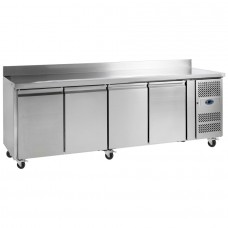 Tefcold CF7410: 4 Door Stainless Steel Gastronorm Counter Freezer - 553Ltr