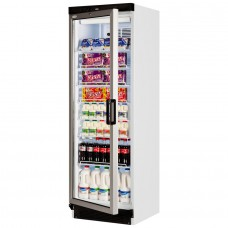 Tefcold FS1380 L/H: 372Ltr Glass Door Display Fridge - Left Hand Hinge