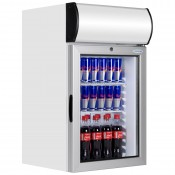 Tefcold FS80CP: 84Ltr Chilled Countertop Display Cabinet with Illuminated Canopy