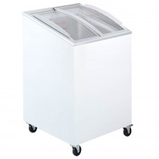 Tefcold IC100SCEB: 0.57m Sliding Curved Glass Lid Chest Freezer - 100Ltr
